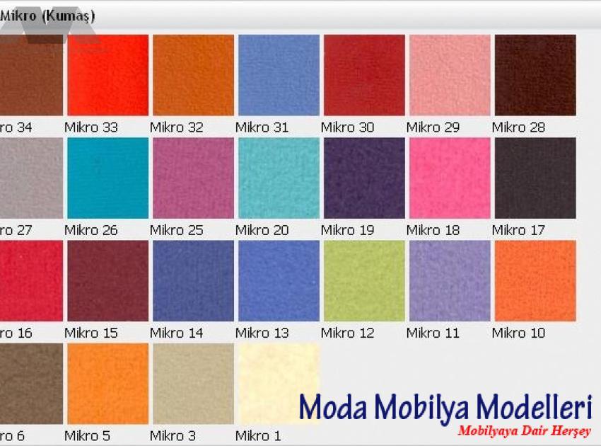 M Design Ofis - Renk Kartelası - Md Mıcro Kumaş